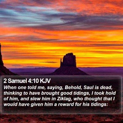 2 Samuel 4:10 KJV Bible Verse Image