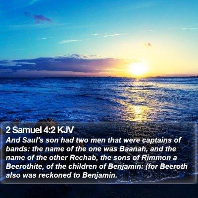 2 Samuel 4:2 KJV Bible Verse Image