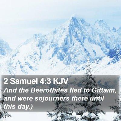 2 Samuel 4:3 KJV Bible Verse Image
