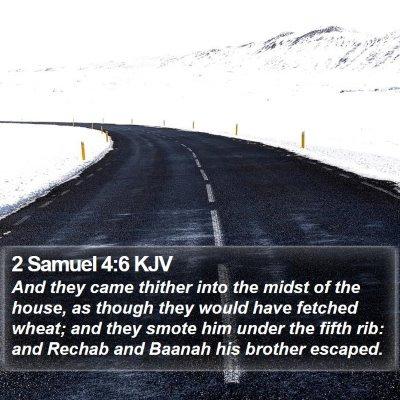 2 Samuel 4:6 KJV Bible Verse Image