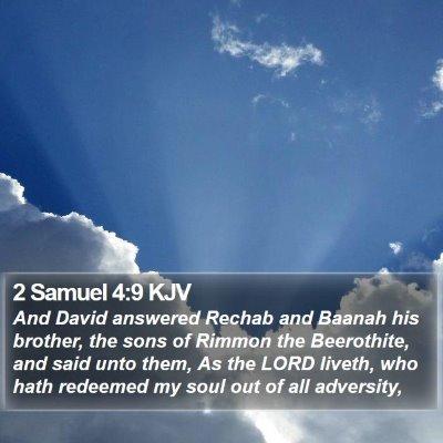 2 Samuel 4:9 KJV Bible Verse Image