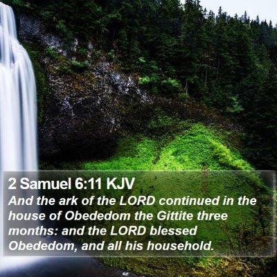 2 Samuel 6:11 KJV Bible Verse Image