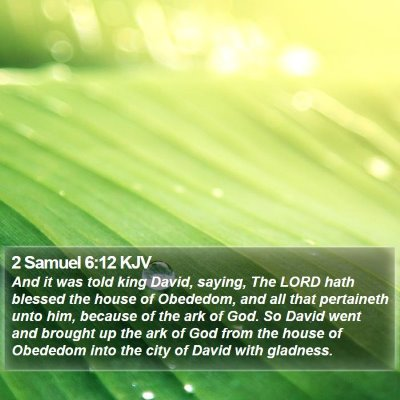 2 Samuel 6:12 KJV Bible Verse Image