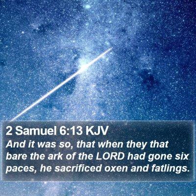 2 Samuel 6:13 KJV Bible Verse Image