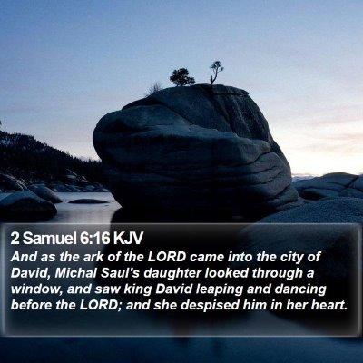 2 Samuel 6:16 KJV Bible Verse Image