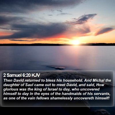 2 Samuel 6:20 KJV Bible Verse Image