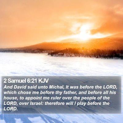 2 Samuel 6:21 KJV Bible Verse Image