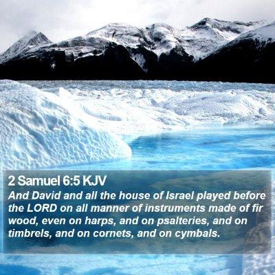 2 Samuel 6:5 KJV Bible Verse Image