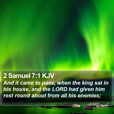 2 Samuel 7:1 KJV Bible Verse Image