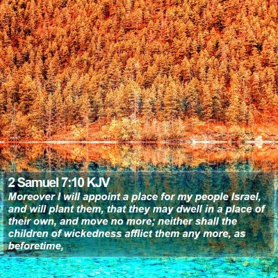 2 Samuel 7:10 KJV Bible Verse Image