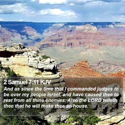2 Samuel 7:11 KJV Bible Verse Image