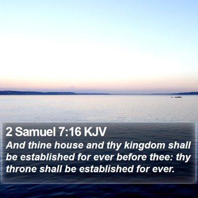 2 Samuel 7:16 KJV Bible Verse Image