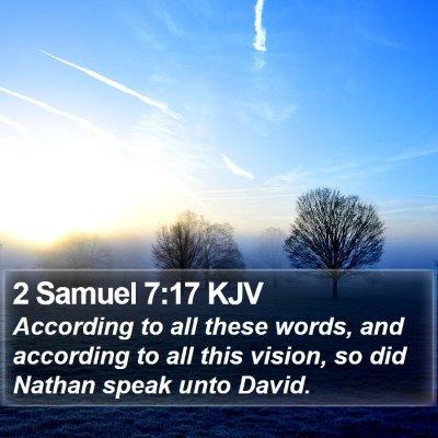 2 Samuel 7:17 KJV Bible Verse Image