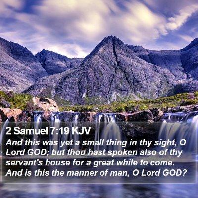 2 Samuel 7:19 KJV Bible Verse Image