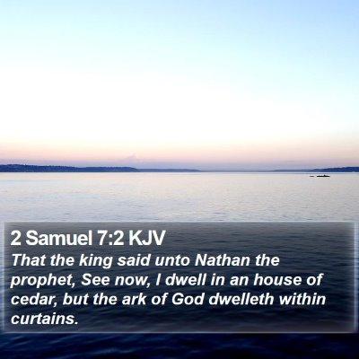 2 Samuel 7:2 KJV Bible Verse Image