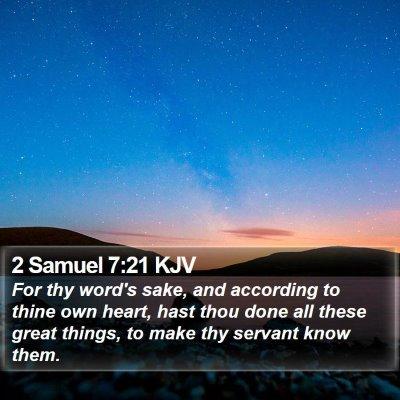 2 Samuel 7:21 KJV Bible Verse Image