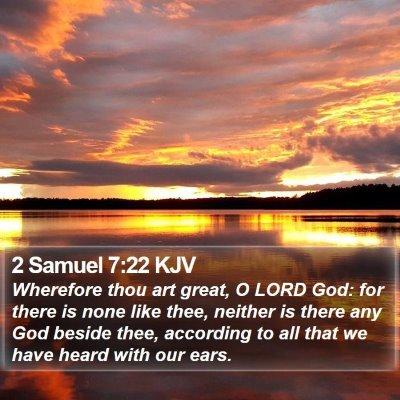 2 Samuel 7:22 KJV Bible Verse Image