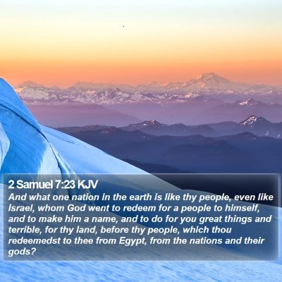2 Samuel 7:23 KJV Bible Verse Image