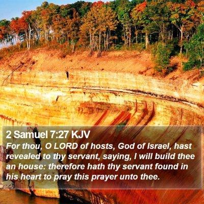 2 Samuel 7:27 KJV Bible Verse Image