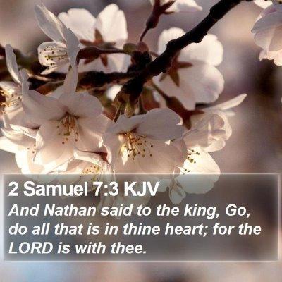 2 Samuel 7:3 KJV Bible Verse Image