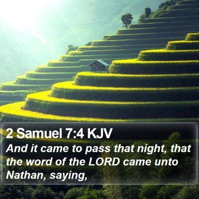 2 Samuel 7:4 KJV Bible Verse Image