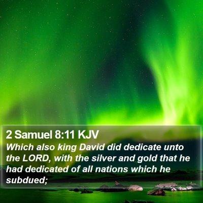 2 Samuel 8:11 KJV Bible Verse Image