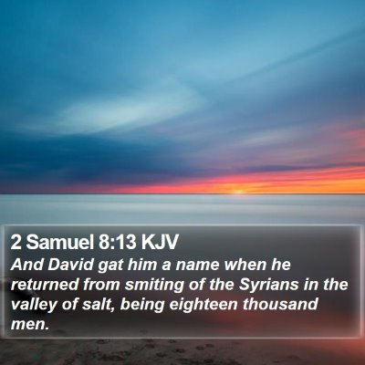 2 Samuel 8:13 KJV Bible Verse Image