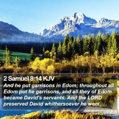 2 Samuel 8:14 KJV Bible Verse Image