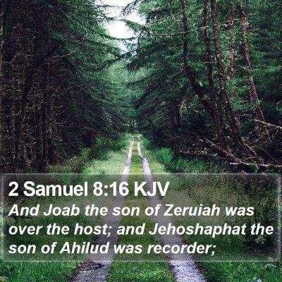 2 Samuel 8:16 KJV Bible Verse Image