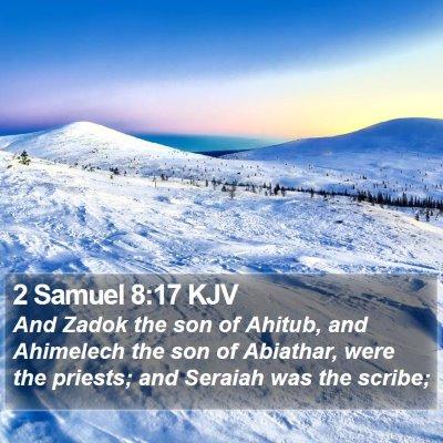 2 Samuel 8:17 KJV Bible Verse Image