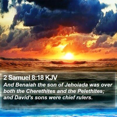 2 Samuel 8:18 KJV Bible Verse Image