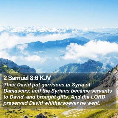 2 Samuel 8:6 KJV Bible Verse Image