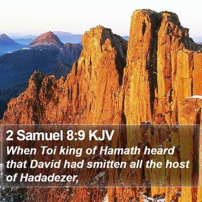 2 Samuel 8:9 KJV Bible Verse Image