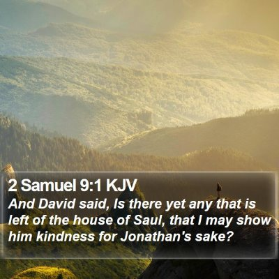 2 Samuel 9:1 KJV Bible Verse Image