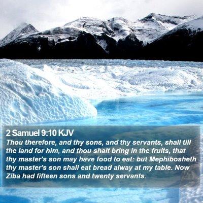 2 Samuel 9:10 KJV Bible Verse Image