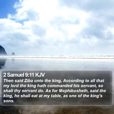 2 Samuel 9:11 KJV Bible Verse Image