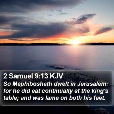 2 Samuel 9:13 KJV Bible Verse Image