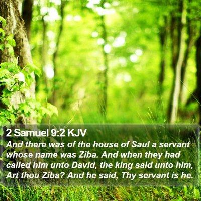 2 Samuel 9:2 KJV Bible Verse Image