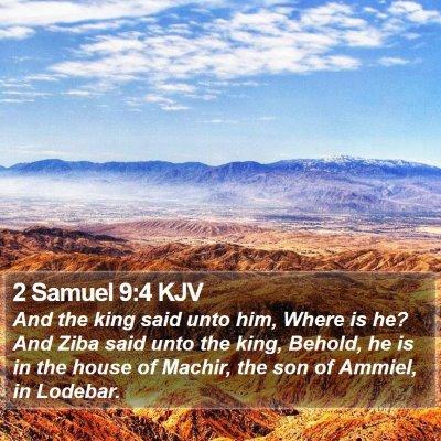2 Samuel 9:4 KJV Bible Verse Image