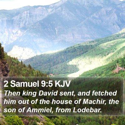 2 Samuel 9:5 KJV Bible Verse Image