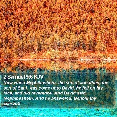 2 Samuel 9:6 KJV Bible Verse Image