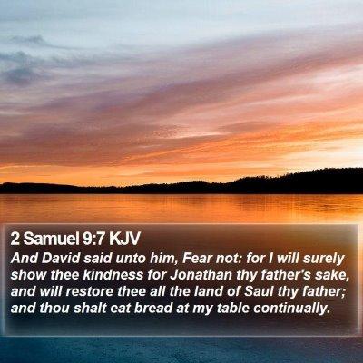 2 Samuel 9:7 KJV Bible Verse Image