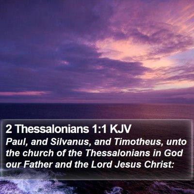 2 Thessalonians 1:1 KJV Bible Verse Image