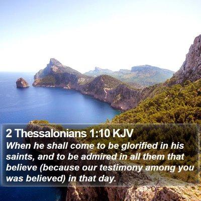 2 Thessalonians 1:10 KJV Bible Verse Image