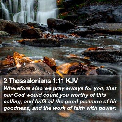 2 Thessalonians 1:11 KJV Bible Verse Image