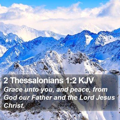 2 Thessalonians 1:2 KJV Bible Verse Image