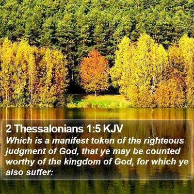2 Thessalonians 1:5 KJV Bible Verse Image