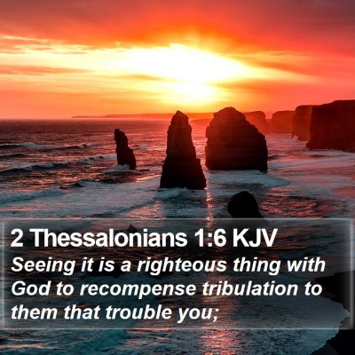 2 Thessalonians 1:6 KJV Bible Verse Image