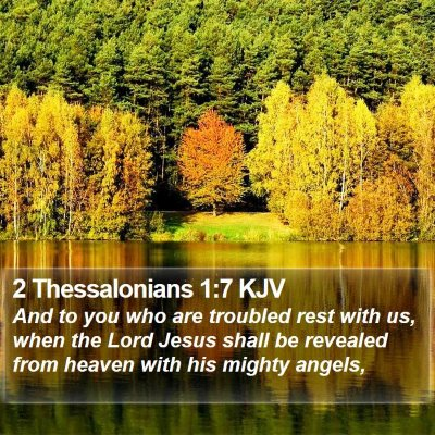 2 Thessalonians 1:7 KJV Bible Verse Image