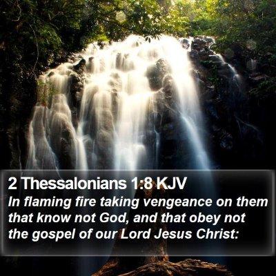 2 Thessalonians 1:8 KJV Bible Verse Image